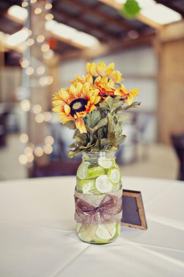 Tischdeko Hochzeit Sommer Sonnenblumen
