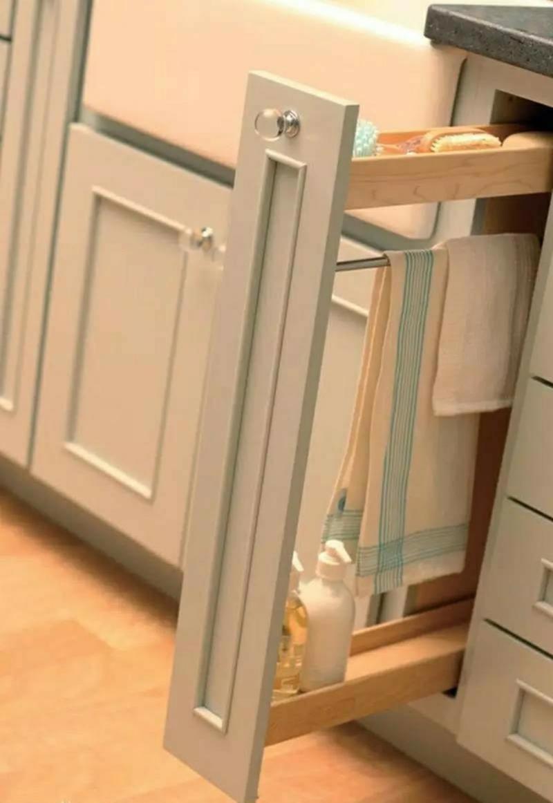 Unterschrank Küchenzeile schmall ausziehbar