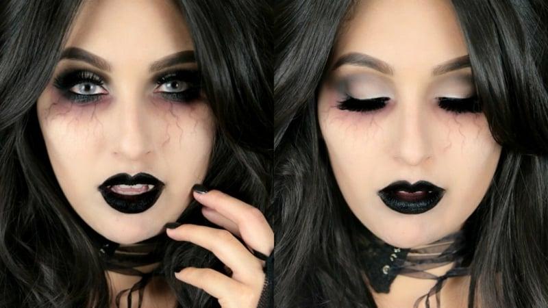 Halloween Schminken Damen Vampir