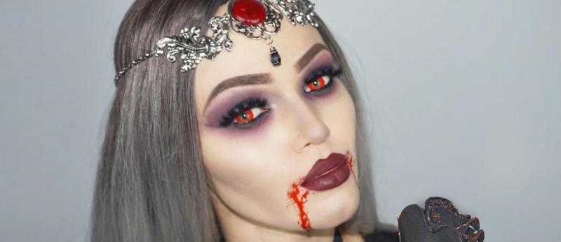 Halloween Schminken Vampir Kontaktinsen