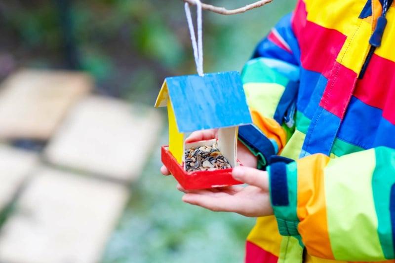 Vogelhaus basteln mit Kindern kreative Ideen