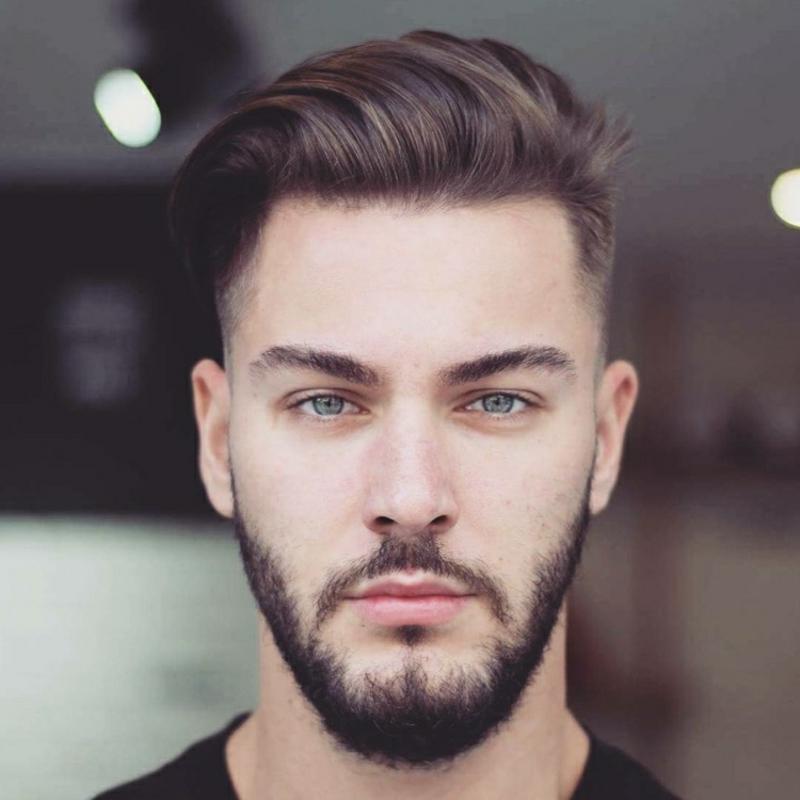 Undercut Frisur mit Bart tragen
