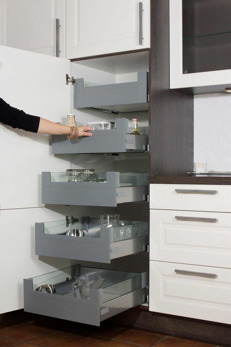moderner Vorratsschrank Küche mehr Stauraum