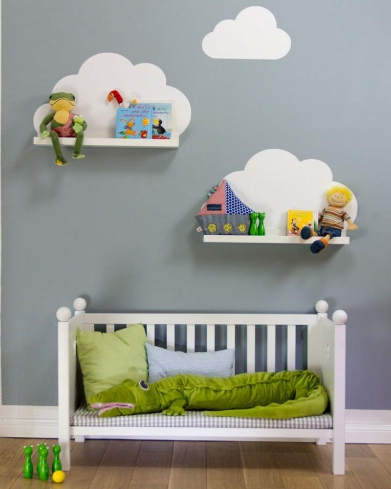 IKEA Regale Kinderzimmer Wandmalerei