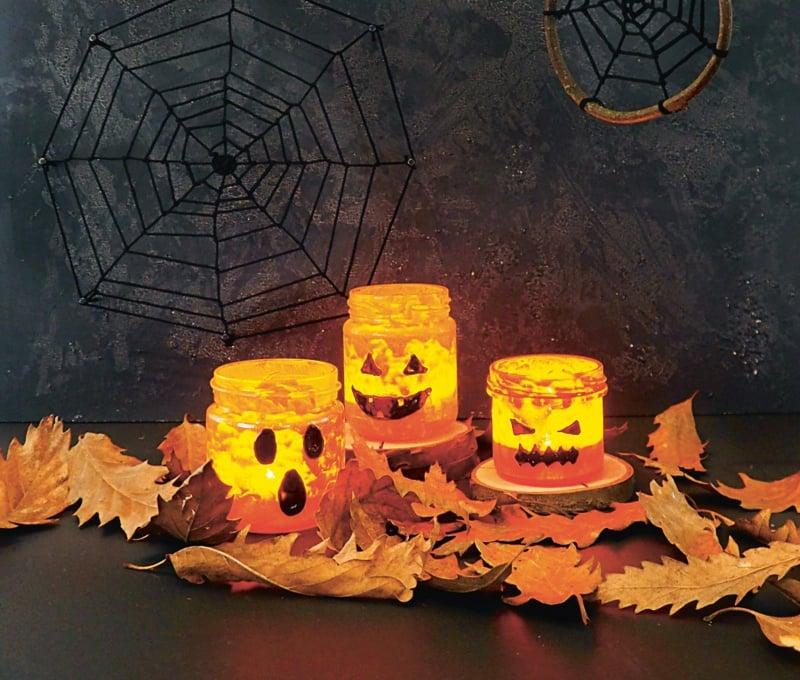 Halloween Deko Windlichter selber machen