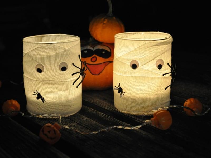 Halloween Deko Windlichter Mumien