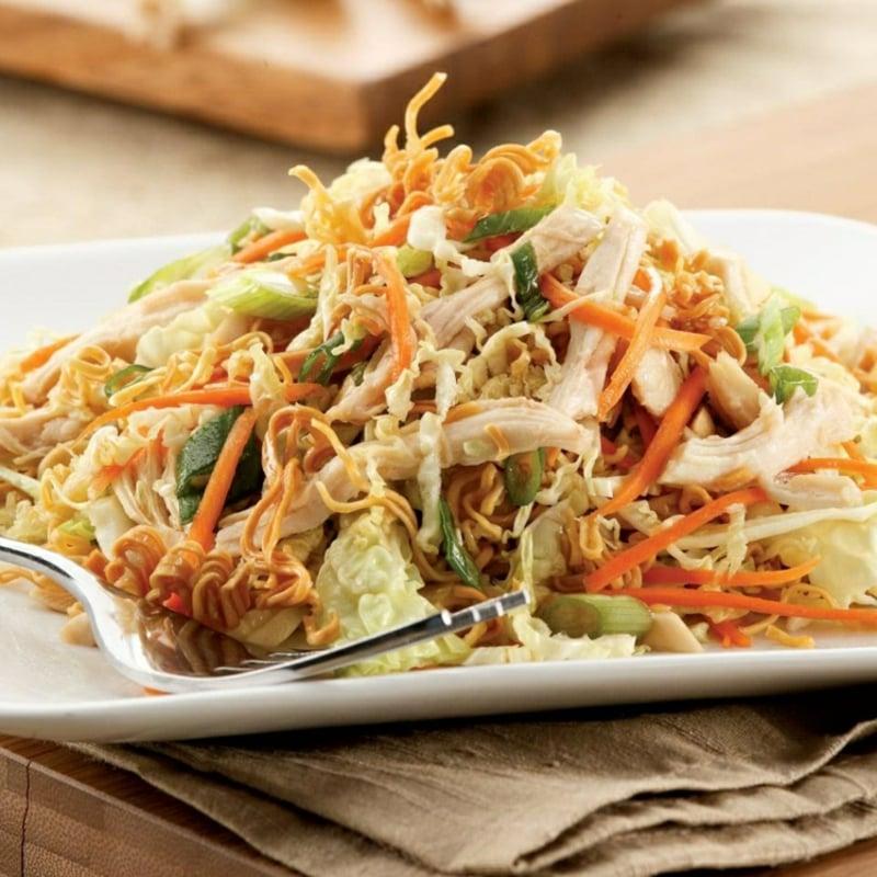 Yum Yum Salat servieren tolle Idee