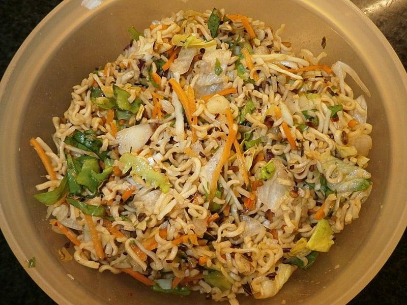 asiatische Salate gesunde Rezepte Chinakohl Karotten