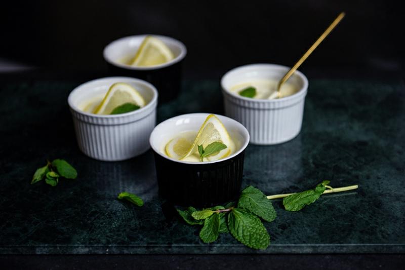 Panna cotta Rezept mit Zitrone
