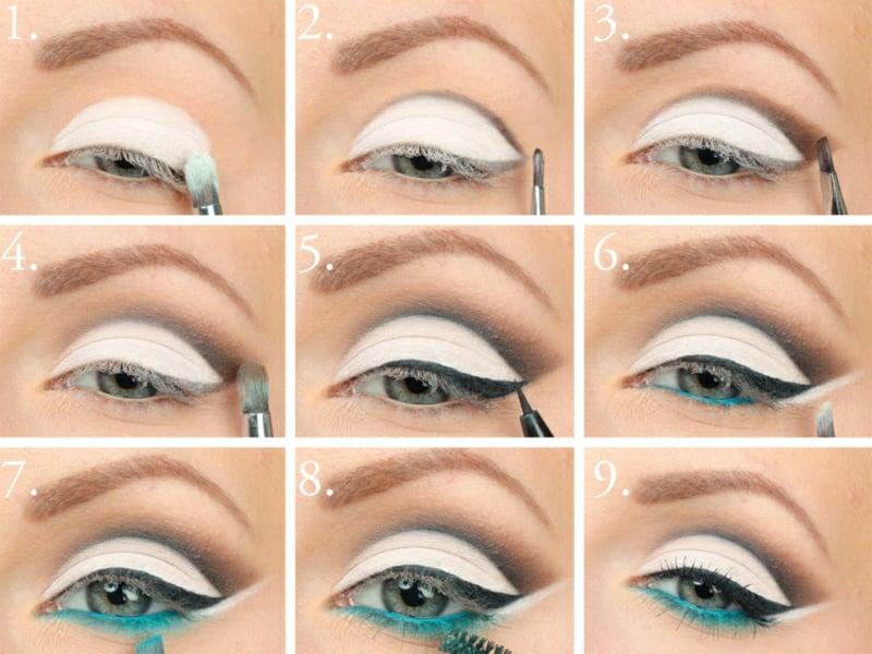 Augen größer schminken Anleitung in Bildern