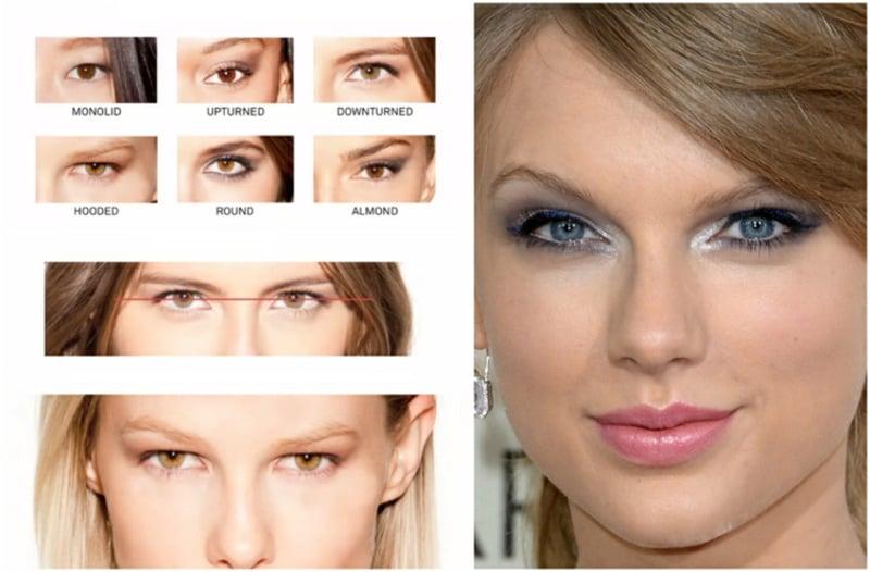 Augen größer schminken je nach der Augenform