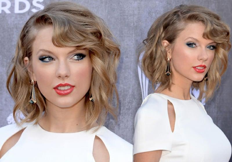 blauer Kajal verwenden Taylor Swift