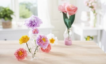 Blumen aus Seidenpapier kreative Ideen