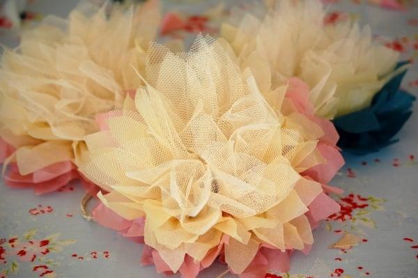herrliche Blumen selbstgemacht Tischdeko