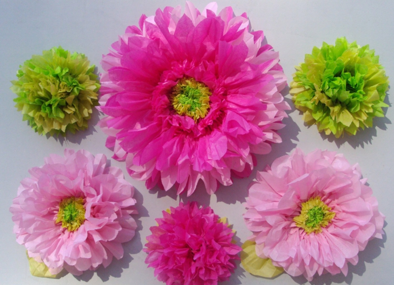Blumen aus Seidenpapier origineller Look