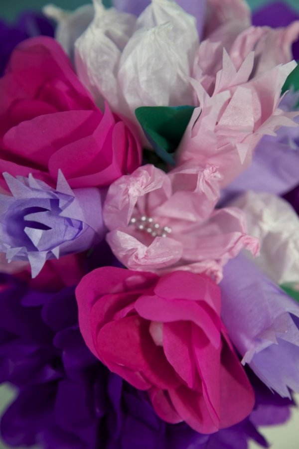 Papierblumen DIY Anleitung