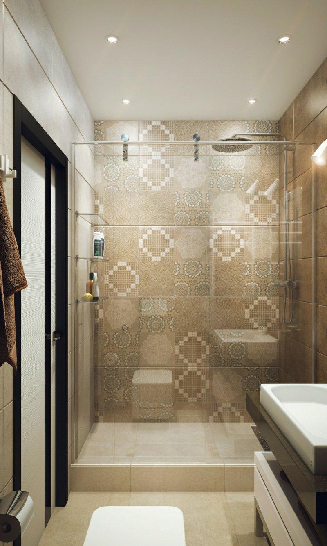 Glaswand begehbare Dusche moderner Look