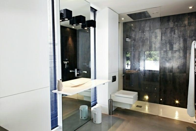 Duschbereich offen moderne Einrichtungsideen Bad