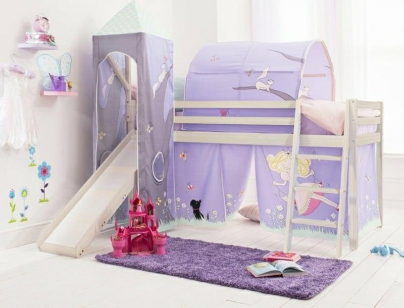 Hochbett mit Rutsche für das Kinderzimmer