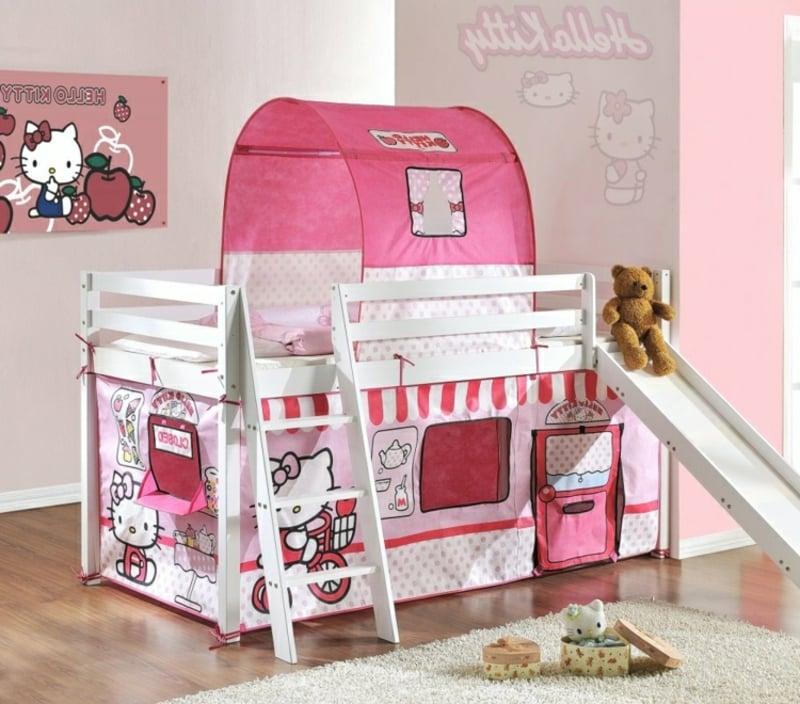 Kinderbett dekorieren Mädchenzimmer