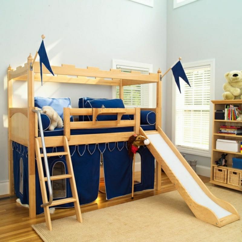 Bett umgestalten Spielplatz Kinderzimmer