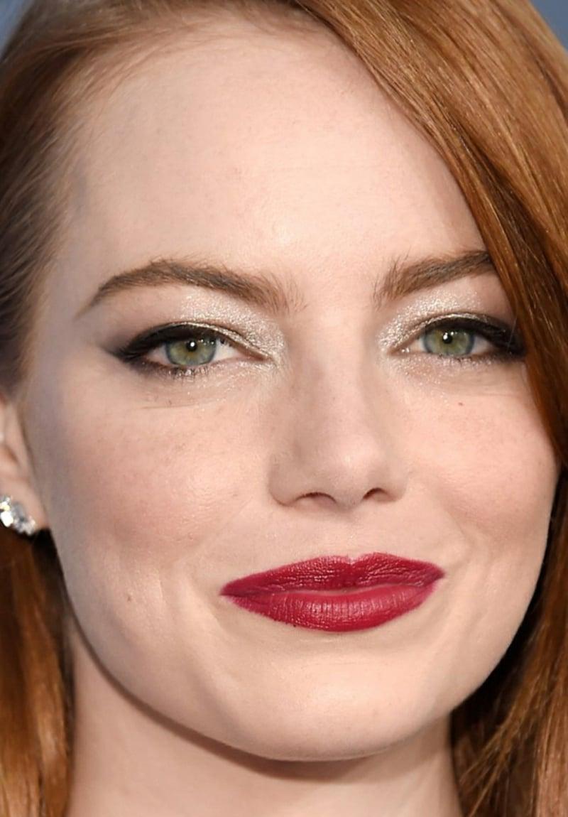 Augen betonen Eyeliner gold Emma Stone