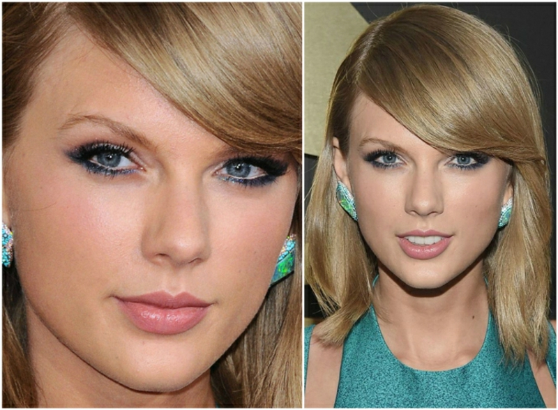 Augen Make-up LKajal blau Taylor Swift