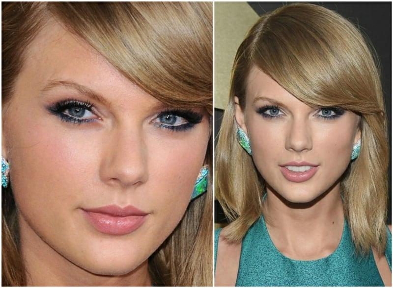 Augen Make-up LKajal blau Taylor Swift