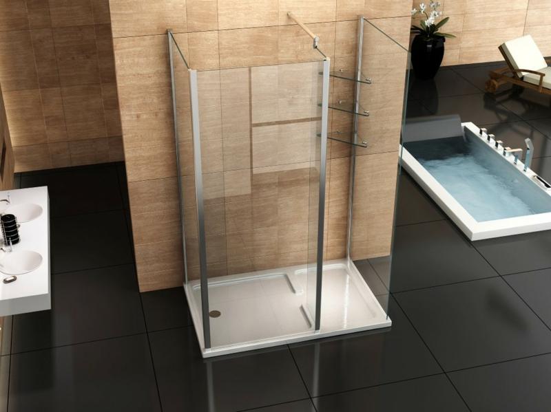 offener Duschbereich bodengleich Glaskabine
