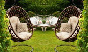 Hängesessel mit Gestell gemütliche Sitzecke gestalten