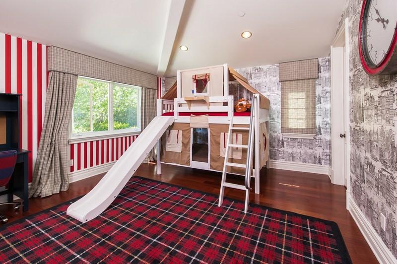 Hochbett mit Rutsche herrlicher Look Kinderzimmer