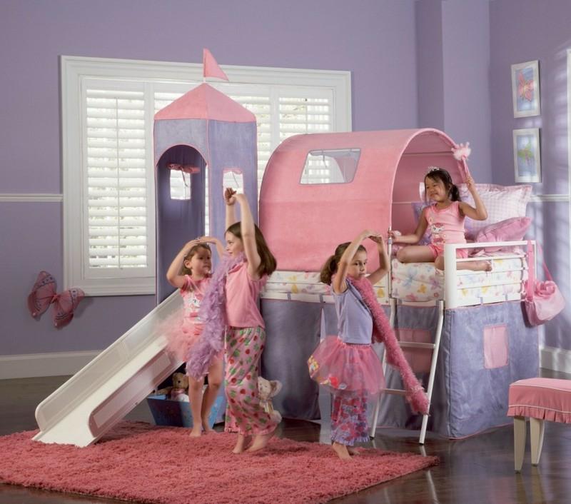Kinderbett Mädchenzimmer Schloss Prinzessinnen