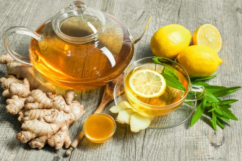 entgiftende Teesorten Ingwer Zitrone