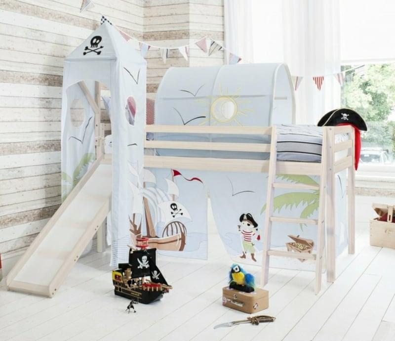 Kinderbett dekorieren Thema Piraten
