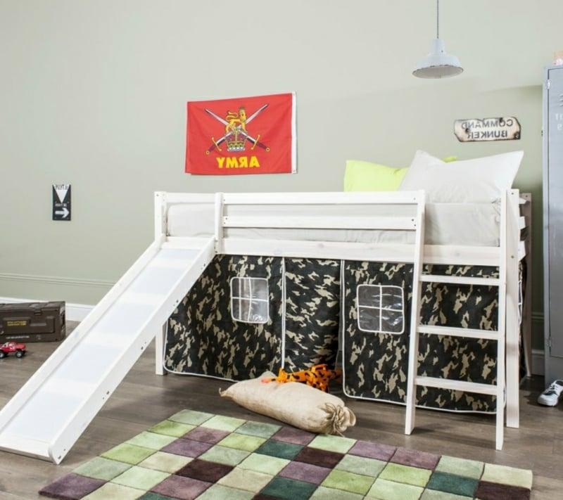 Hochbett mit Rutsche Kinderzimmer IKEA Kura Bett