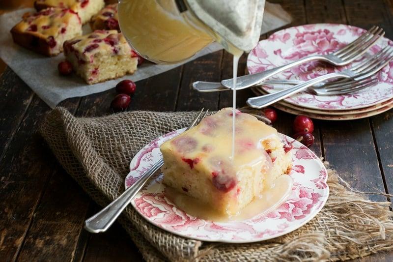 Kuchen mit Vanillesauce super schmackhaft