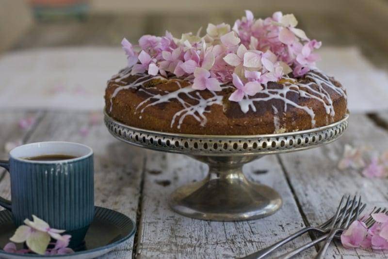 Marmorkuchen saftig servieren herrlicher Vorschlag