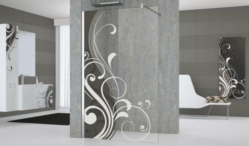 offener Duschbereich Spritzschutz moderner Look