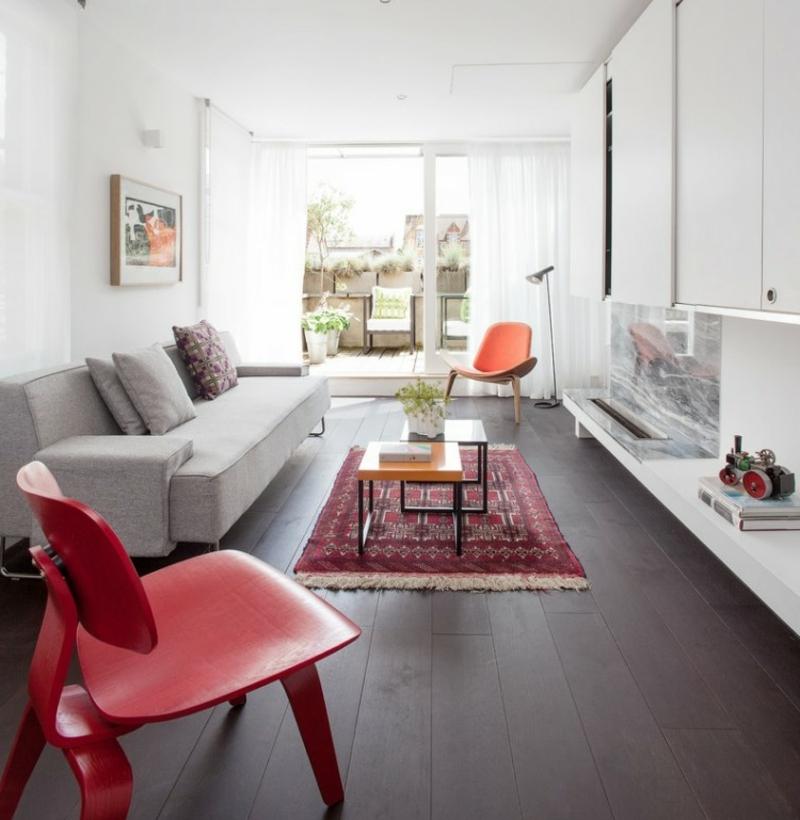 kleiner Orientteppich Wohnzimmer Kaffeetisch