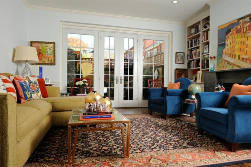Perserteppich Wohnzimmer gemütliches Ambiente