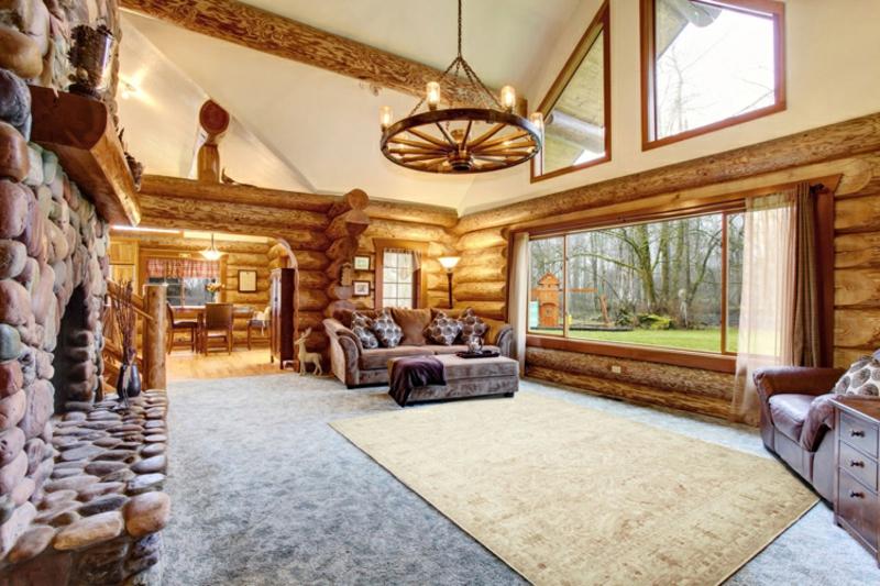 Perserteppich golden weiß Wandverkleidung Holz