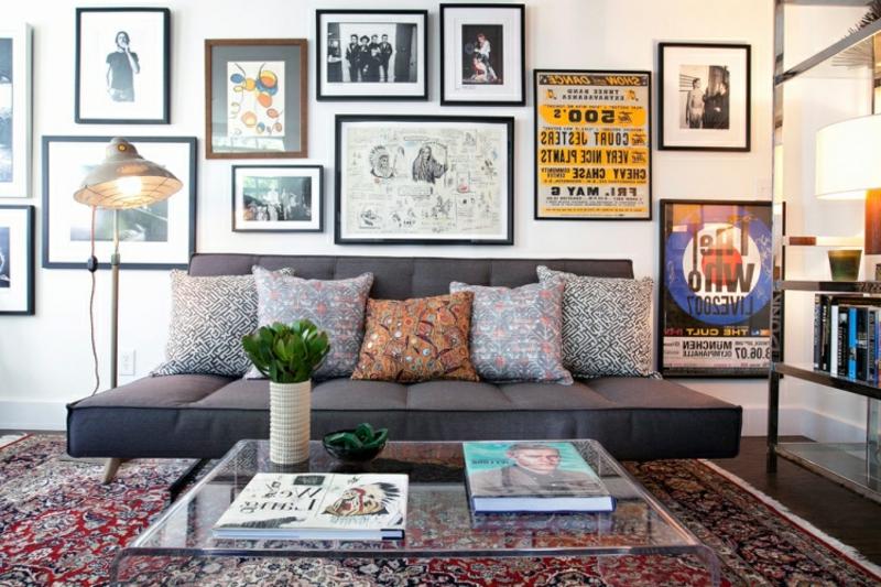 Orientteppich Wohnzimmer Akzentwand Bilder