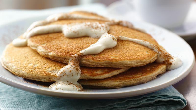 Vanillesoße Rezept Pancakes verzieren