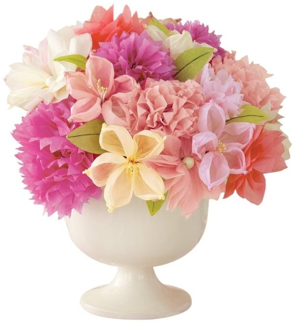 Blumenstrauß Papierblumen herrlicher Look