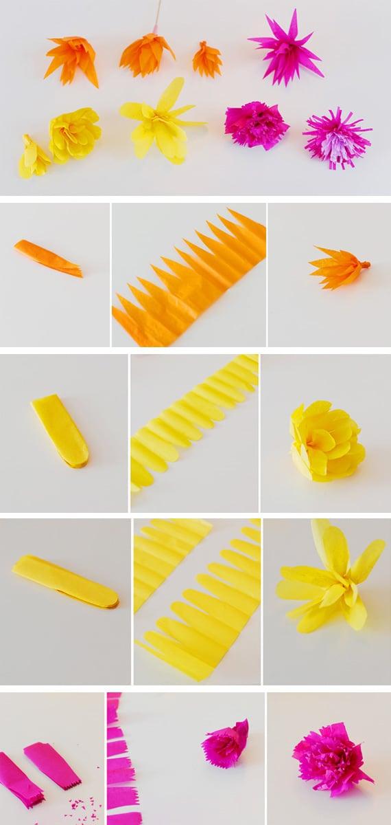 Blumen DIY Seidenpapier Schritt für Schritt