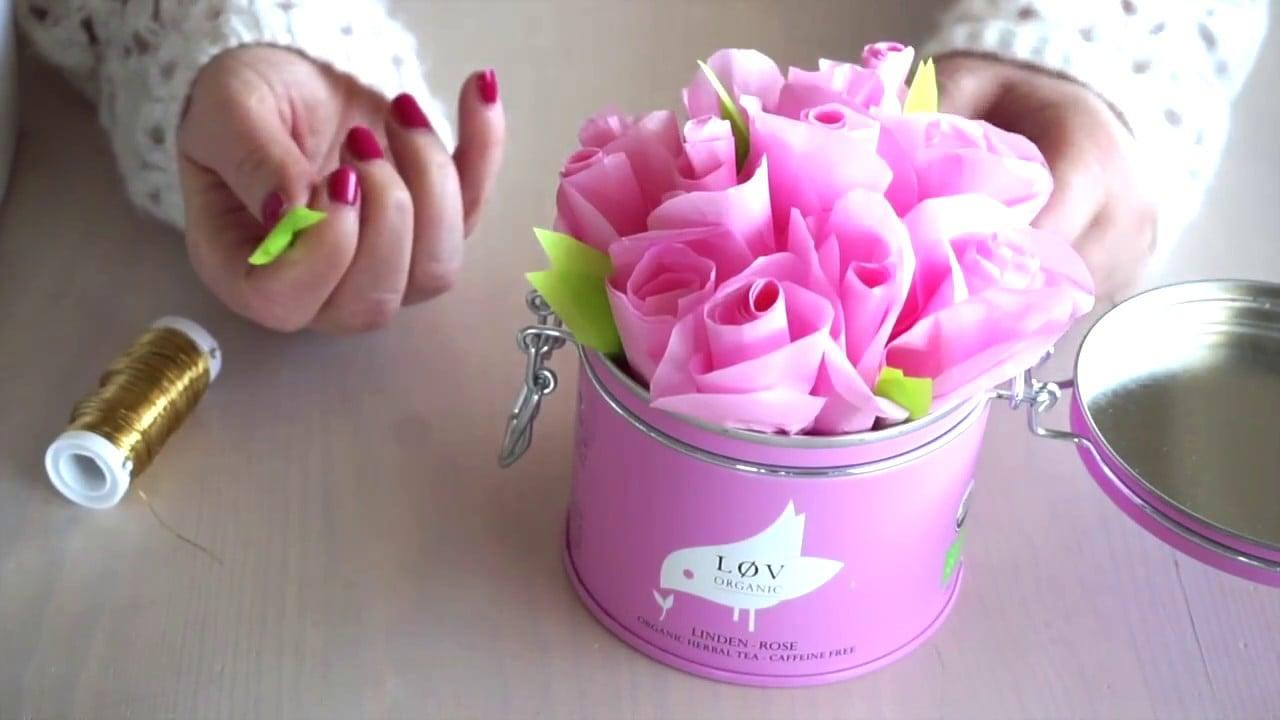 Rosen schenken herrlicher Look Seidenpapier