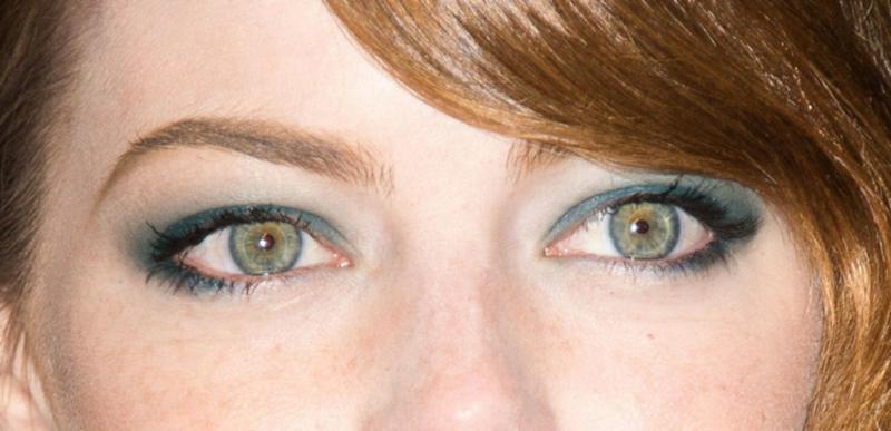 Augen größer schminken blaue Lidschatten