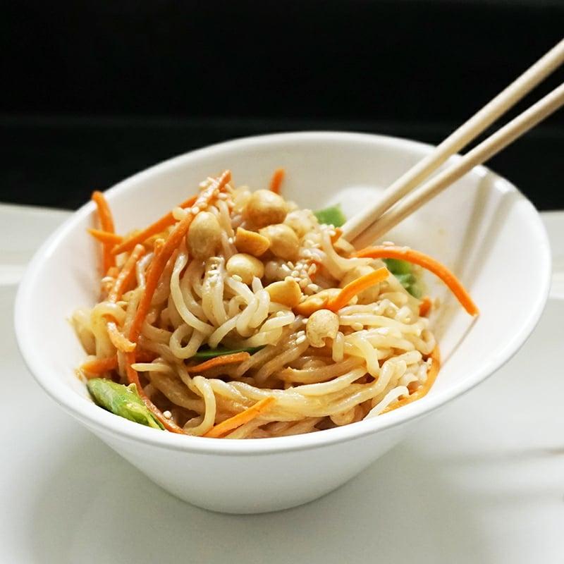Nudeln ohne Kalorien Soja Spaghetti mit Kichererbsen