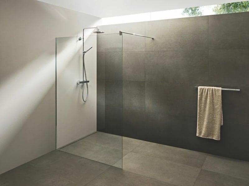 begehbare Dusche Trennwand Glas