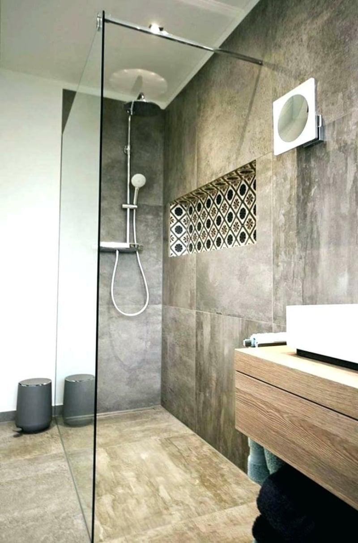 begehbare Dusche modernes Bad
